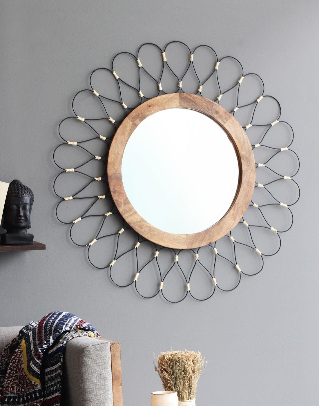 Zoya Wall Mirror Black Ot0033p