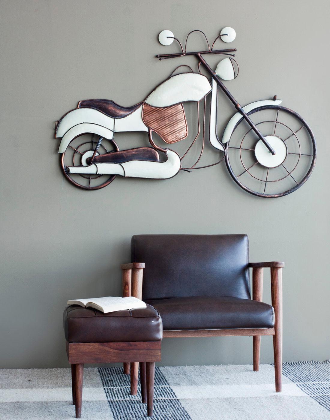Bike wall decor white copper ot0023g