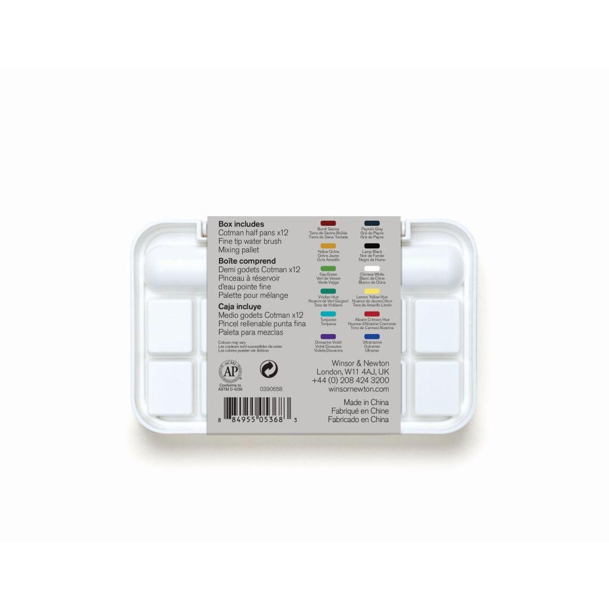 Winsor Newton Cotman Water Colours Brush Pen Set 14
