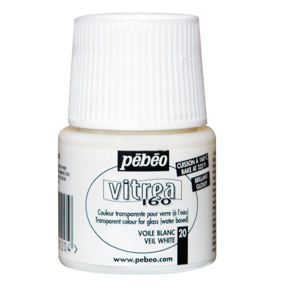 Pebeo Vitrea 160 Paint 45 Ml Bottle Veil White 20
