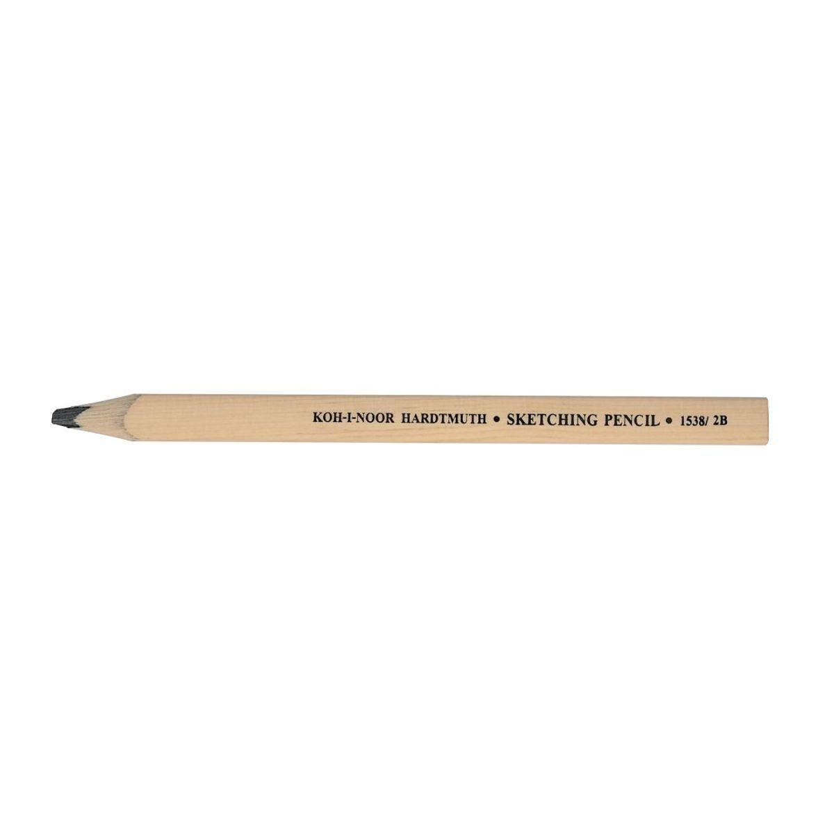 Koh I Noor Hardmuth Carpenter Flat Sketching Pencil 2b