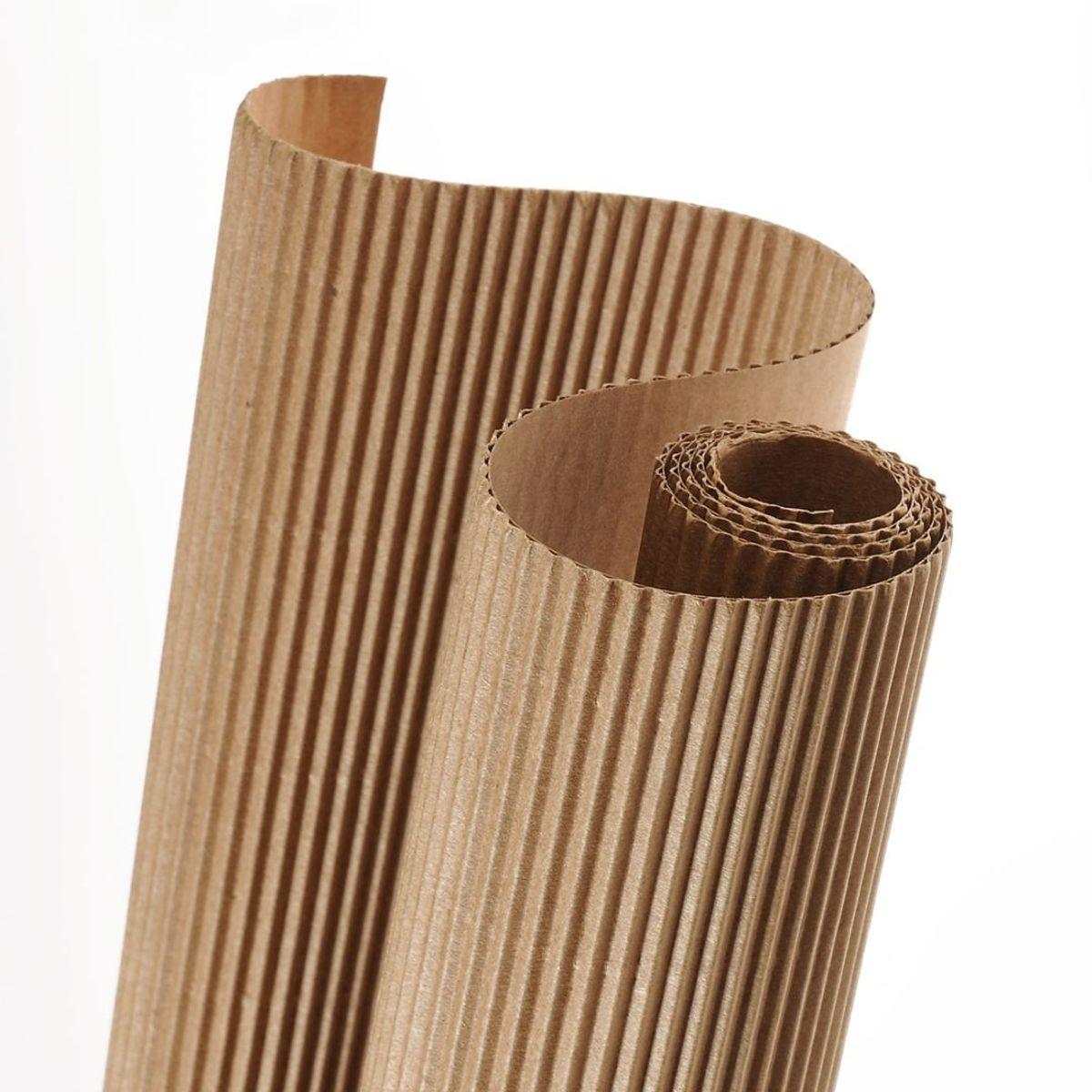 corrugated cardboard paper roll 300g 50x70 cm brown. Black Bedroom Furniture Sets. Home Design Ideas