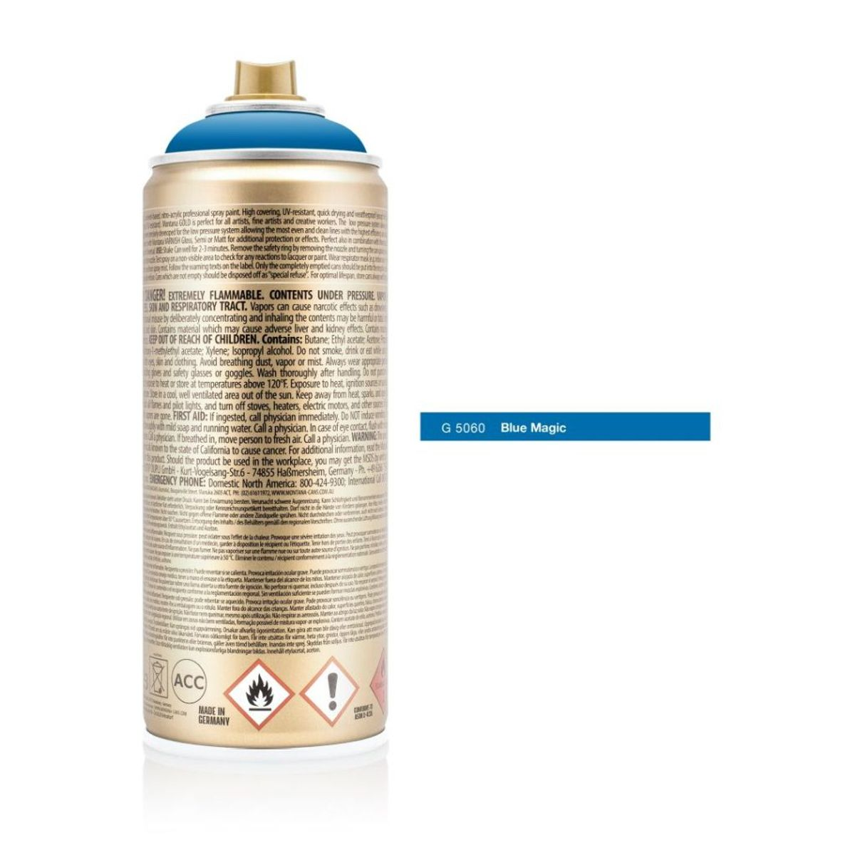 Montana Gold Spray Paint 400 Ml Blue Magic G 5060