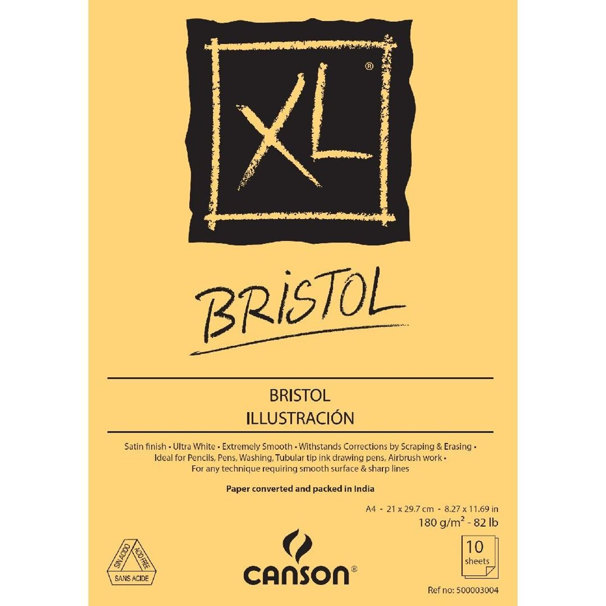 xl bristol 180 gsm a4 pack of 10 extra smooth sheets