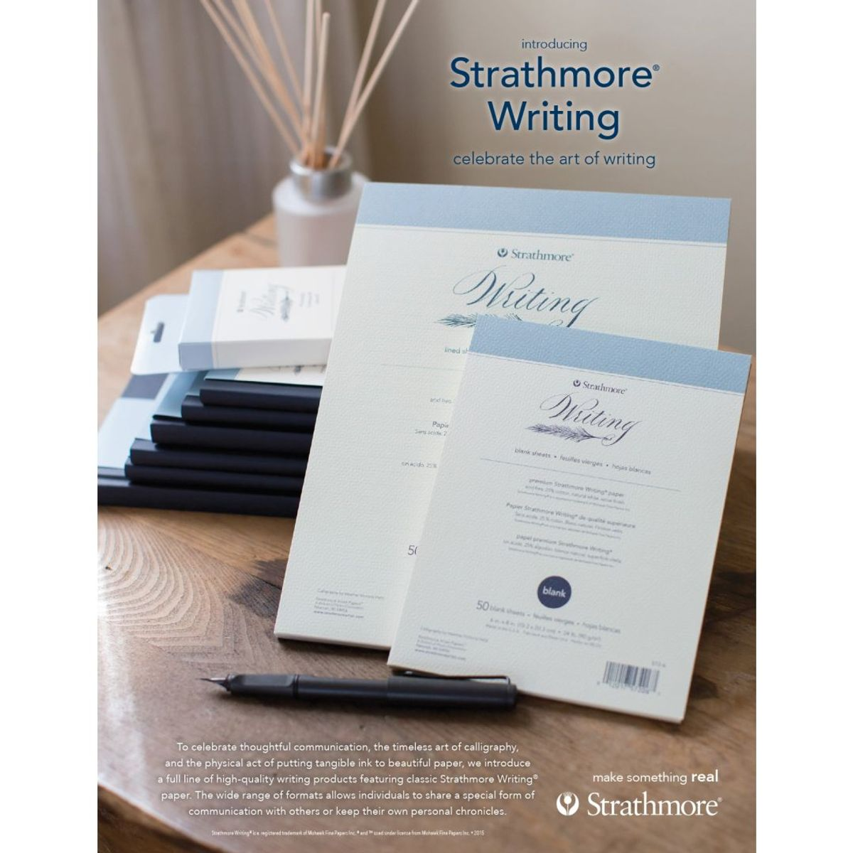 strathmore writing paper An exceptional, premium high quality board that is ideal for business cards, folders, covers and much more to compliment the strathmore writing letterhead range.