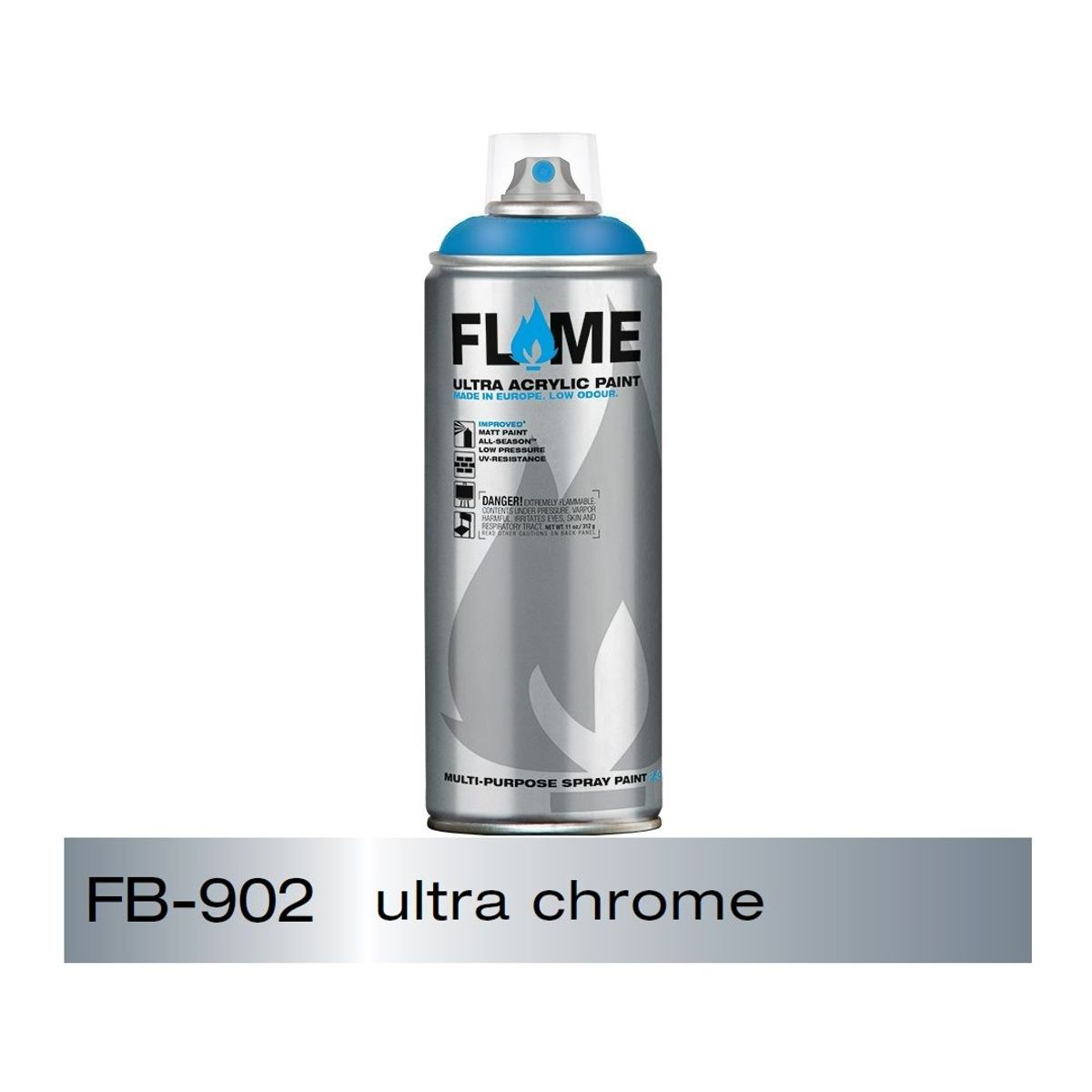 Flame blue spray paint 400 ml ultra chrome art lounge for Chrome paint price