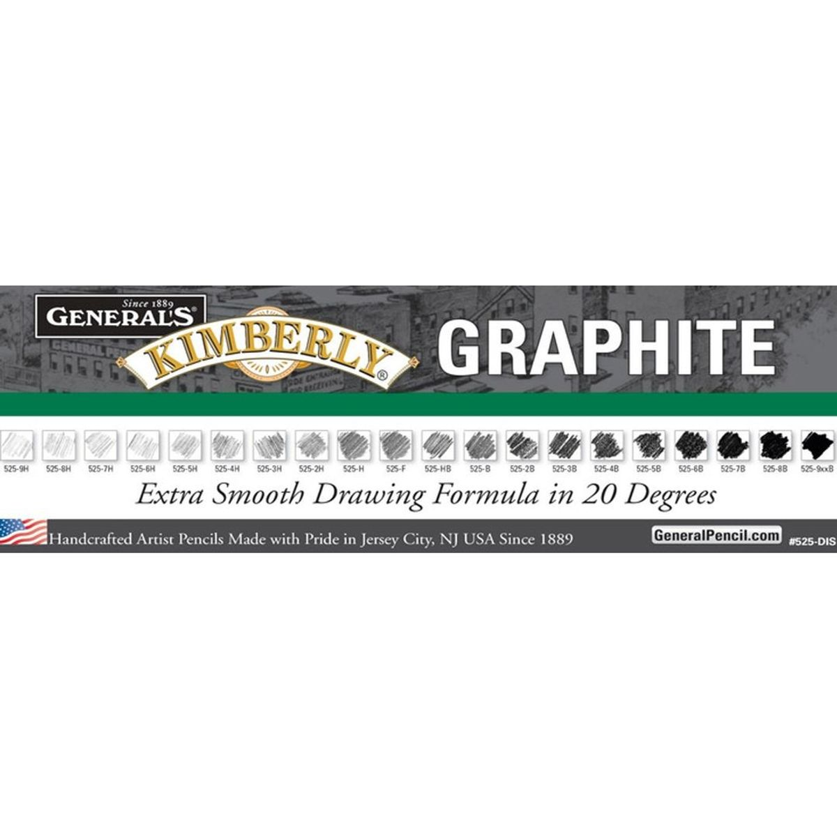 General S Kimberly Premium Graphite Drawing Pencil 5b