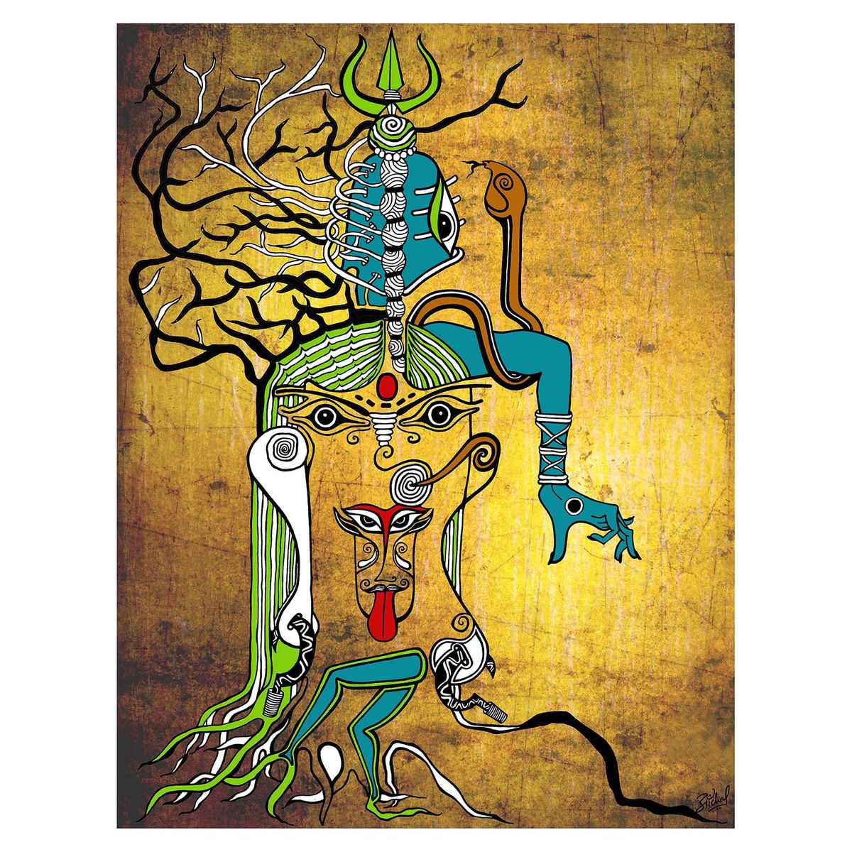 canvas art,art print,mahakali,kali,poster,indian mythology,shiva ...