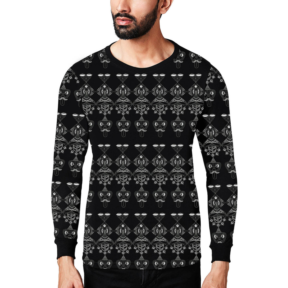 9a7491066 Monkey Mind Full Sleeve T-shirt - Psychedelic printed long sleeve t-shirt