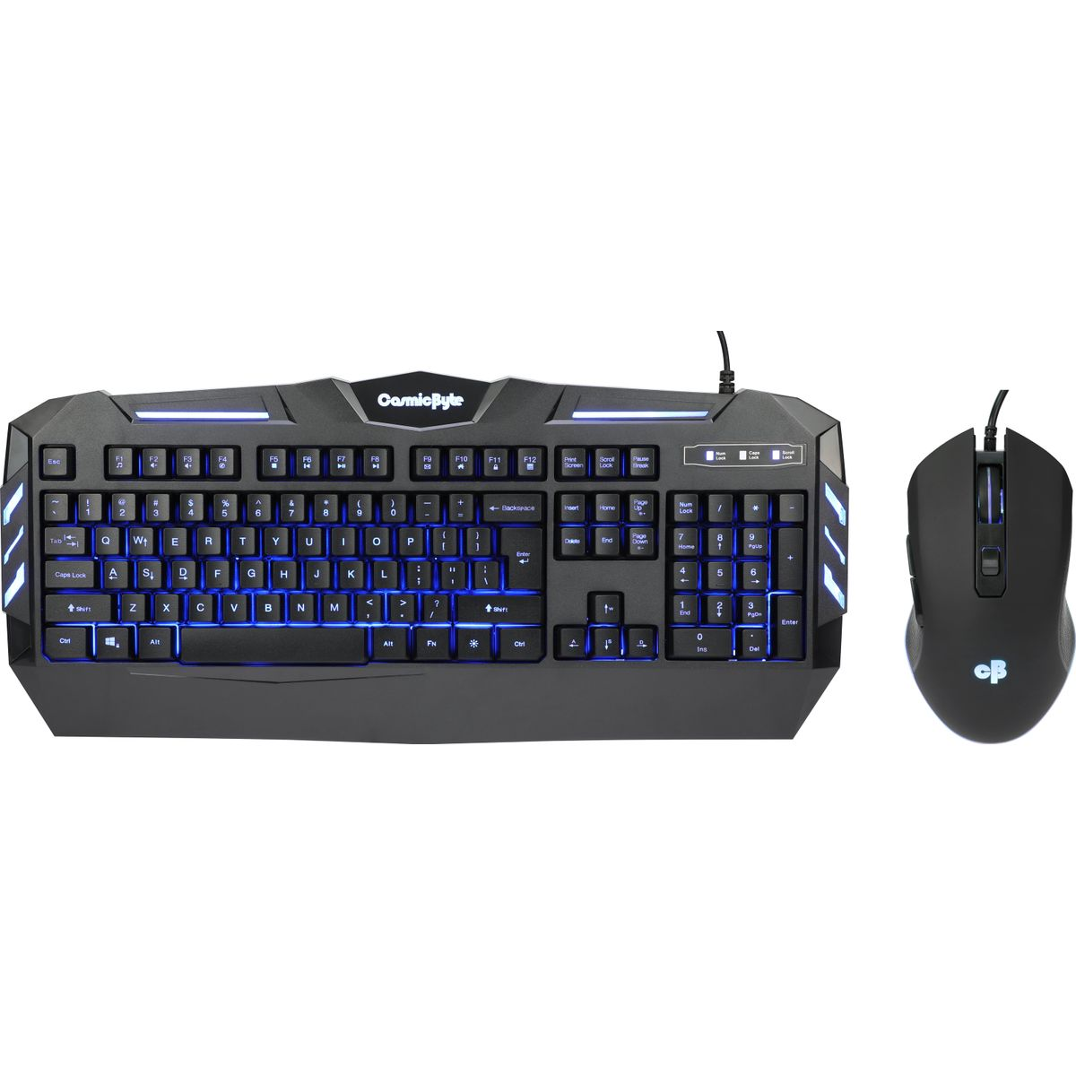 Cosmic Byte Dark Matter Gaming Keyboard and Mouse Combo (Black)