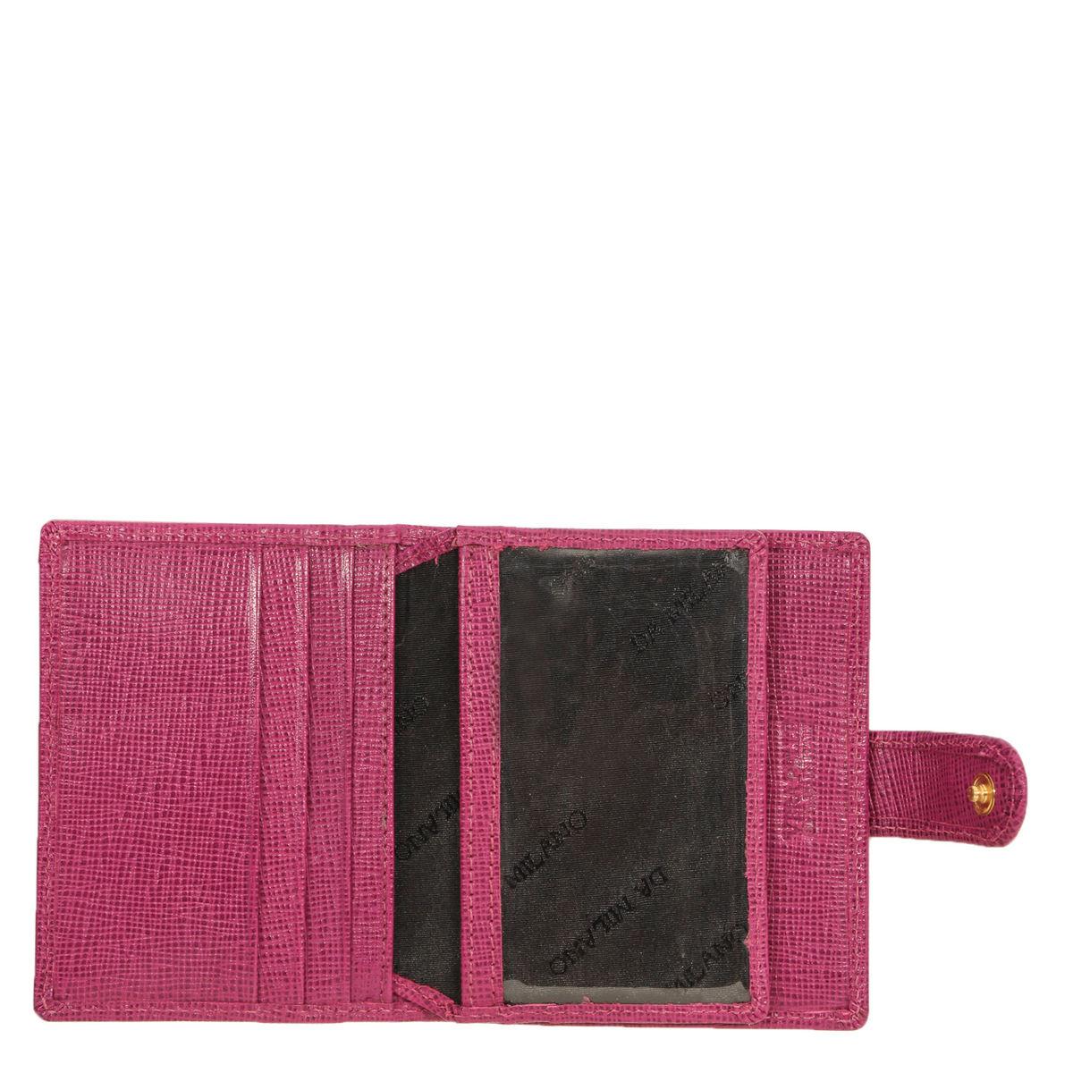 Da Milano Purple Card Case Ca 0090purplesaffiano