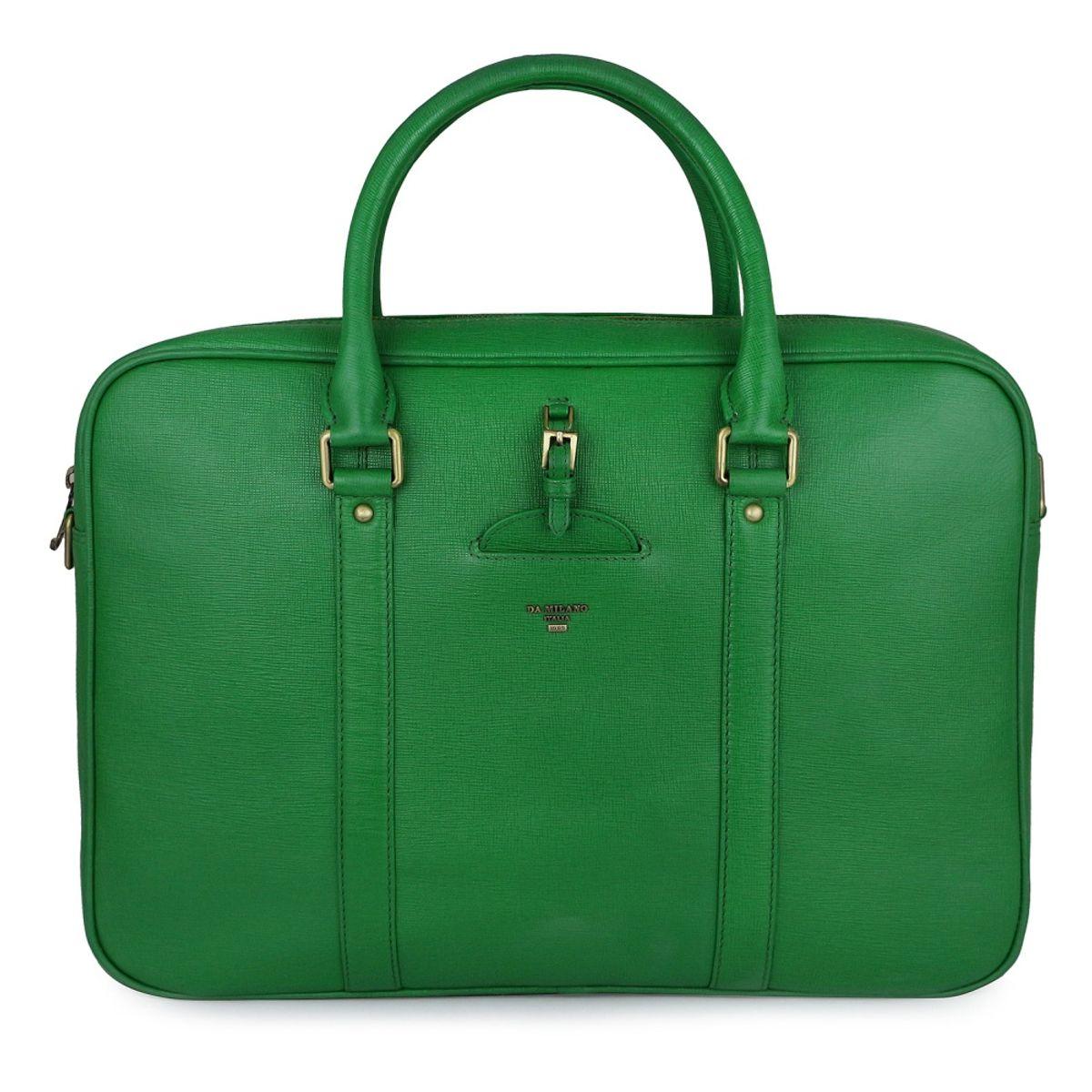 Da Milano Men CB-0310 GREEN Leather Laptop Bag