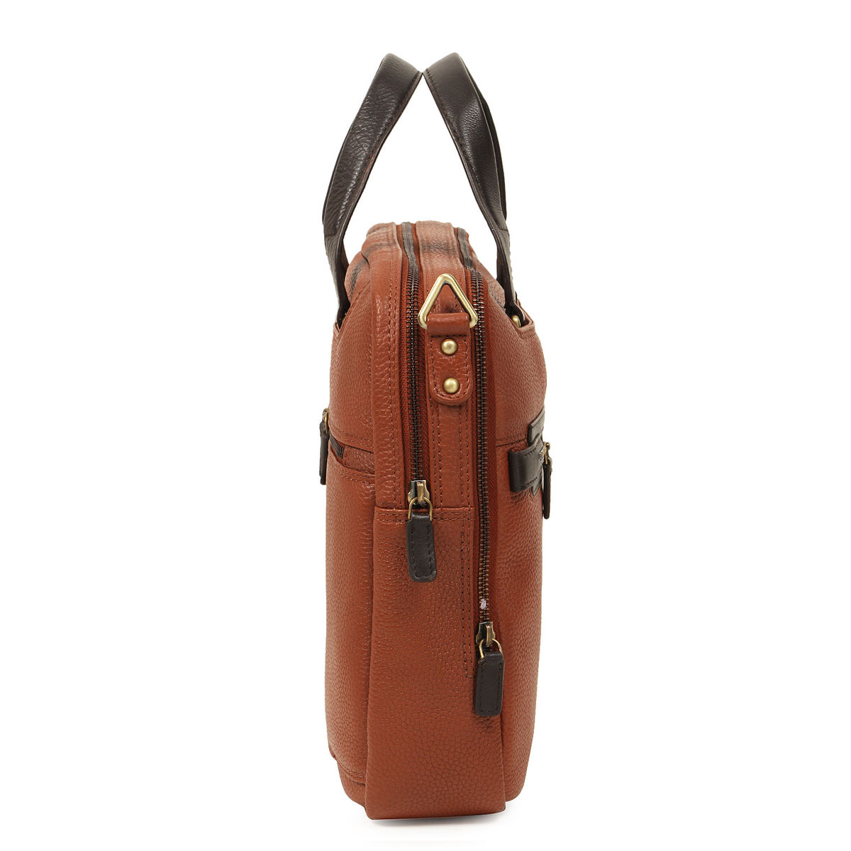 zoom Da Milano Cognac Brown Computer Bag. 1  2  3 db48563c4ccfc