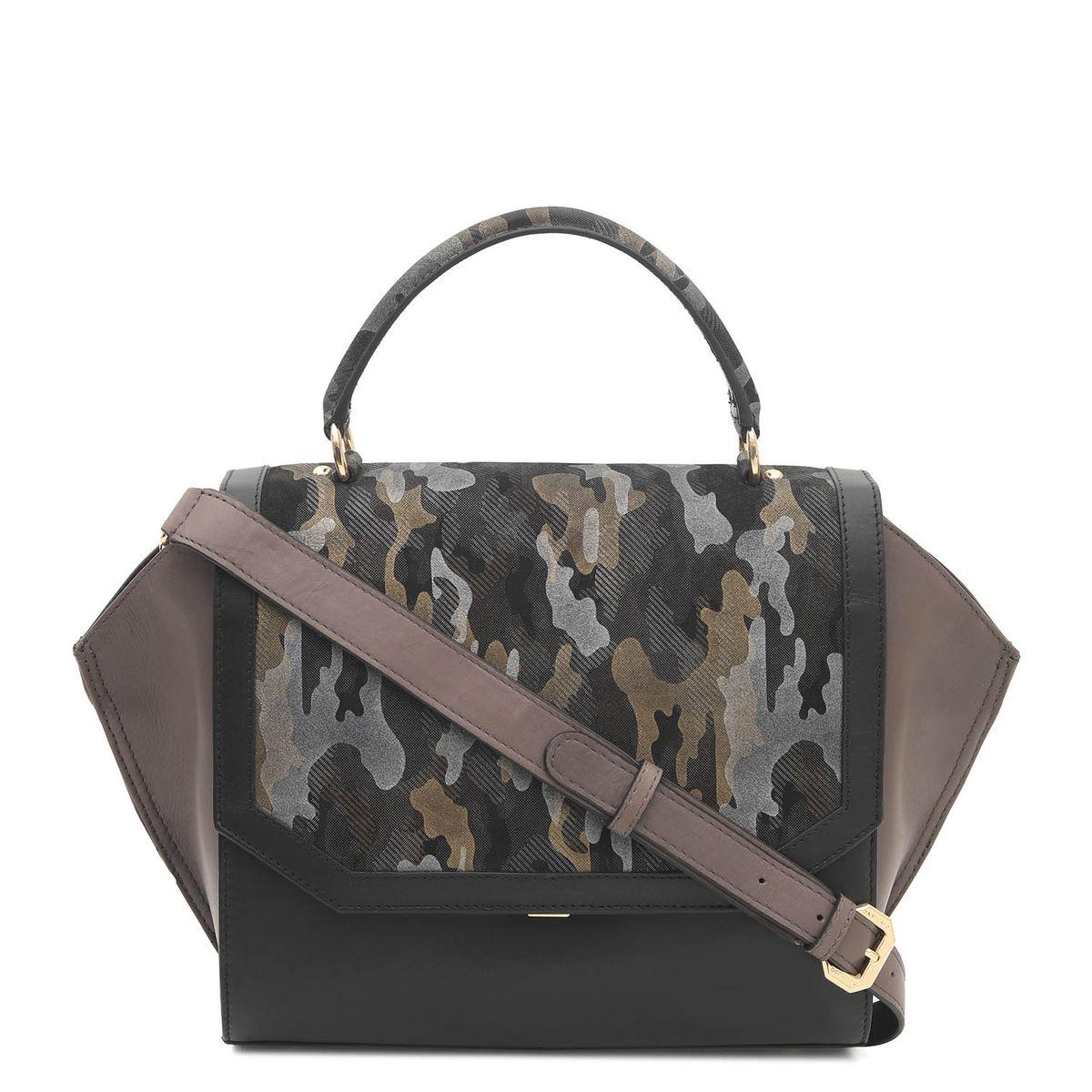 ee52103915ef ... Da Milano Black   Grey Satchel Bag. sold-out-image zoom Da ...