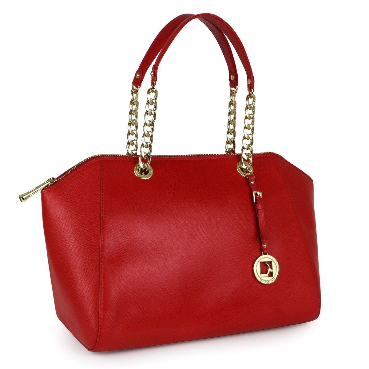 662480bc4c Da Milano Women Lb-2069 Coral Red Handbag