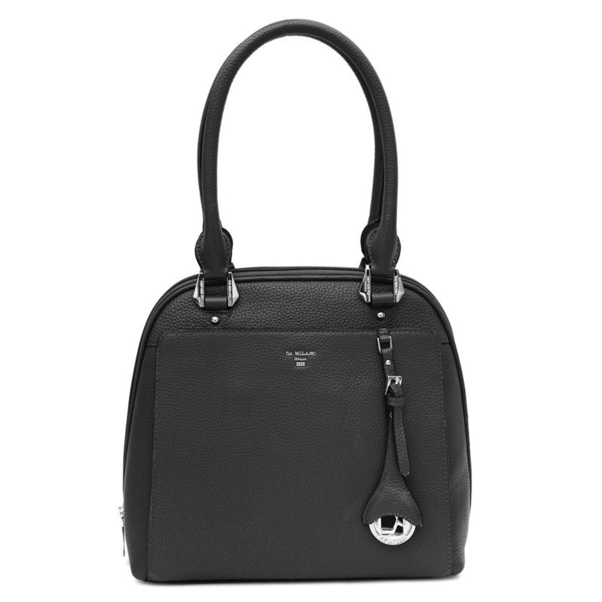 db5acf20ce77 ... Da Milano Black Satchel Bag · zoom ...
