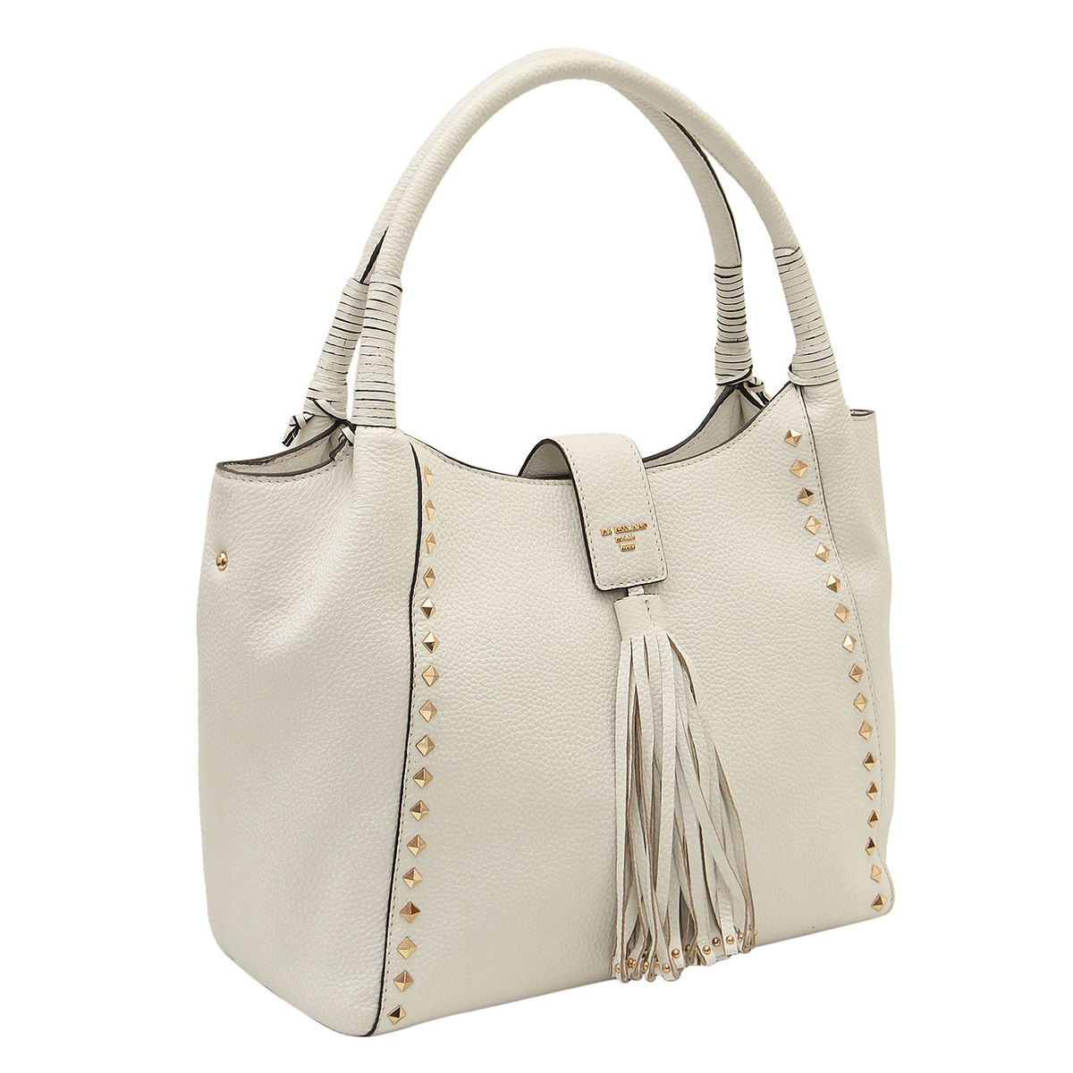 a1c1229b2b Da Milano White Long Handle Bag