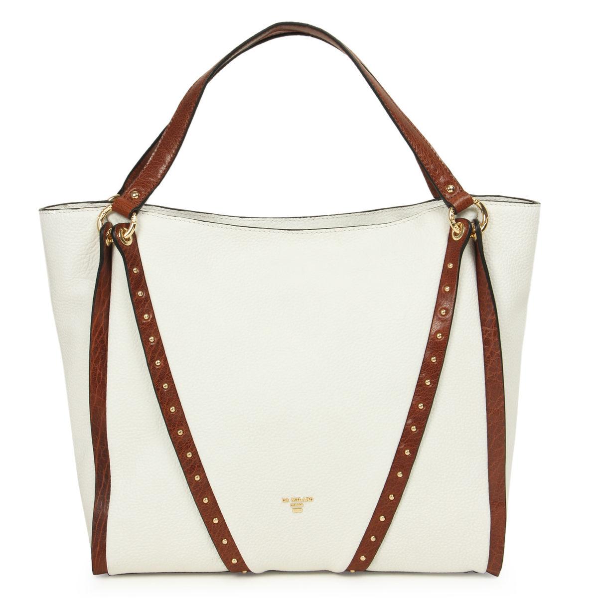 e208a9ff23 ... Da Milano White Con Long Handle Bag. sold-out-image zoom Da ...