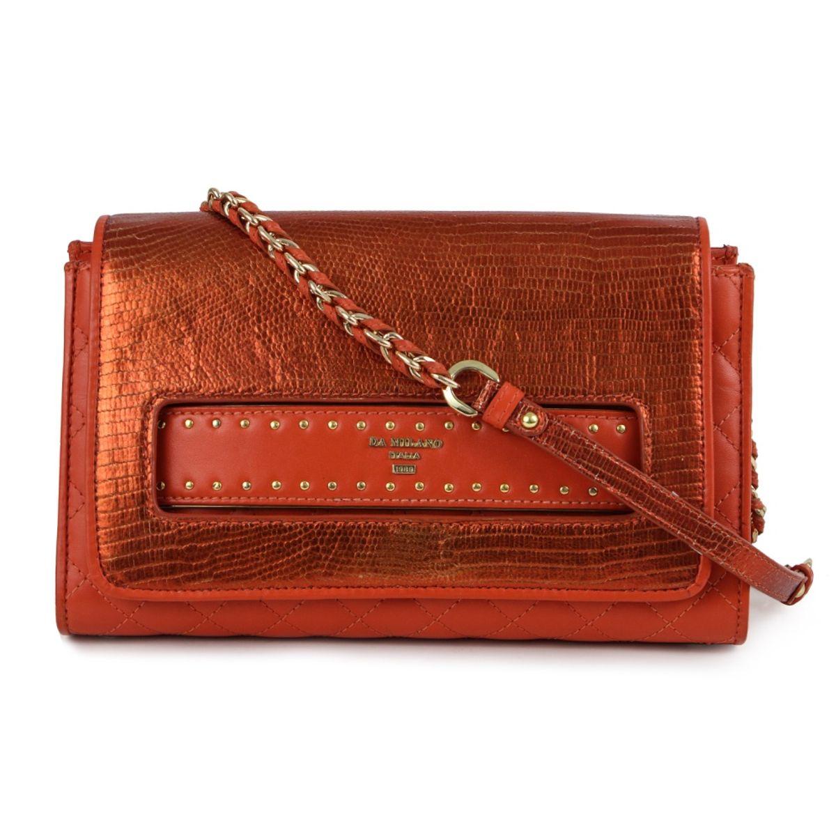 0a457f92a042 Da-Milano Lb-4059 Orange Sling Bag
