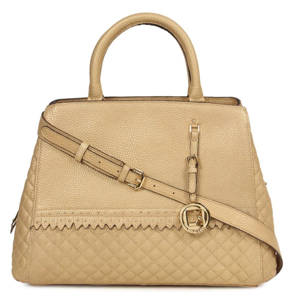 1f27237af8641 Da Milano Light Gold Top Handle Bag
