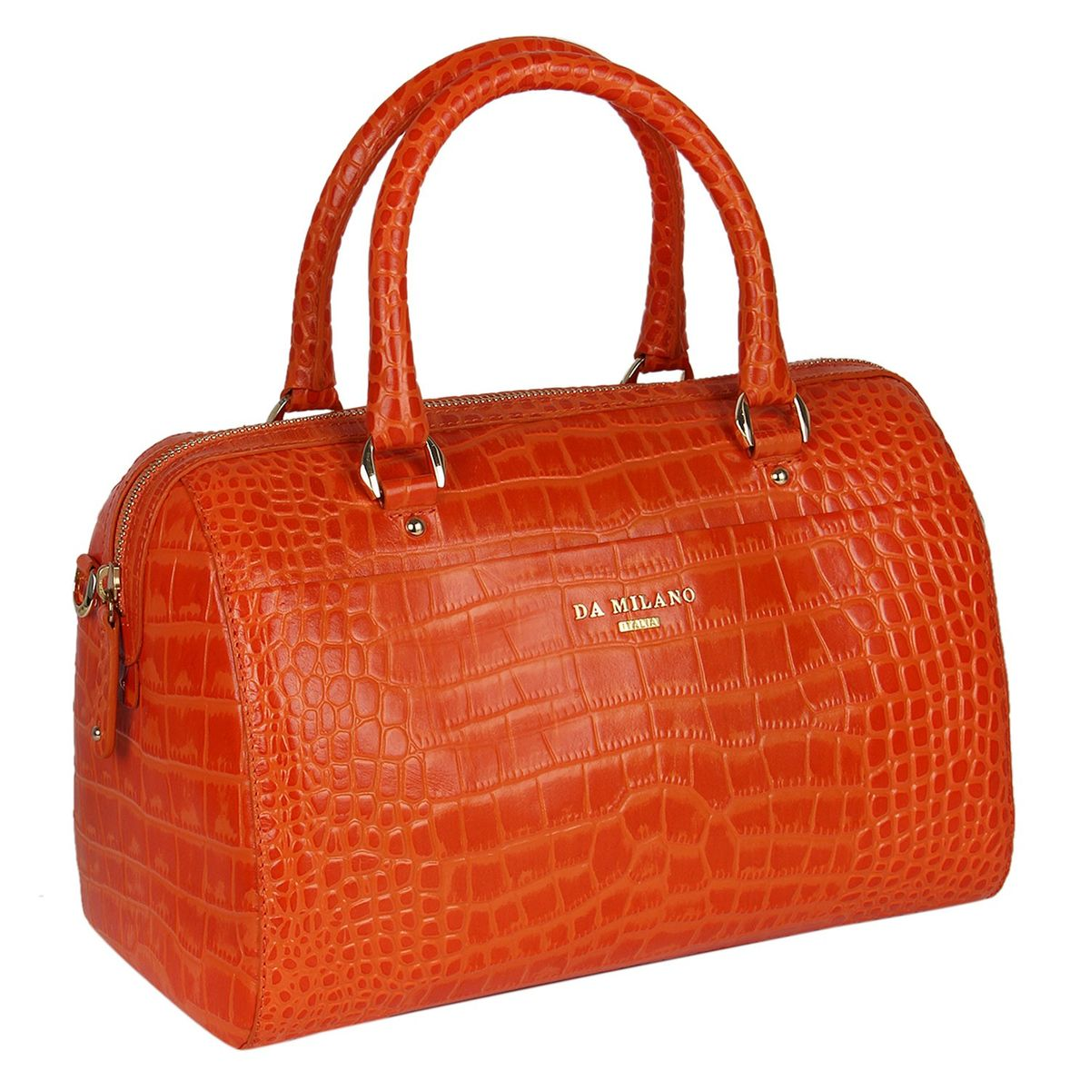 Da Milano Orange Duffle Bag