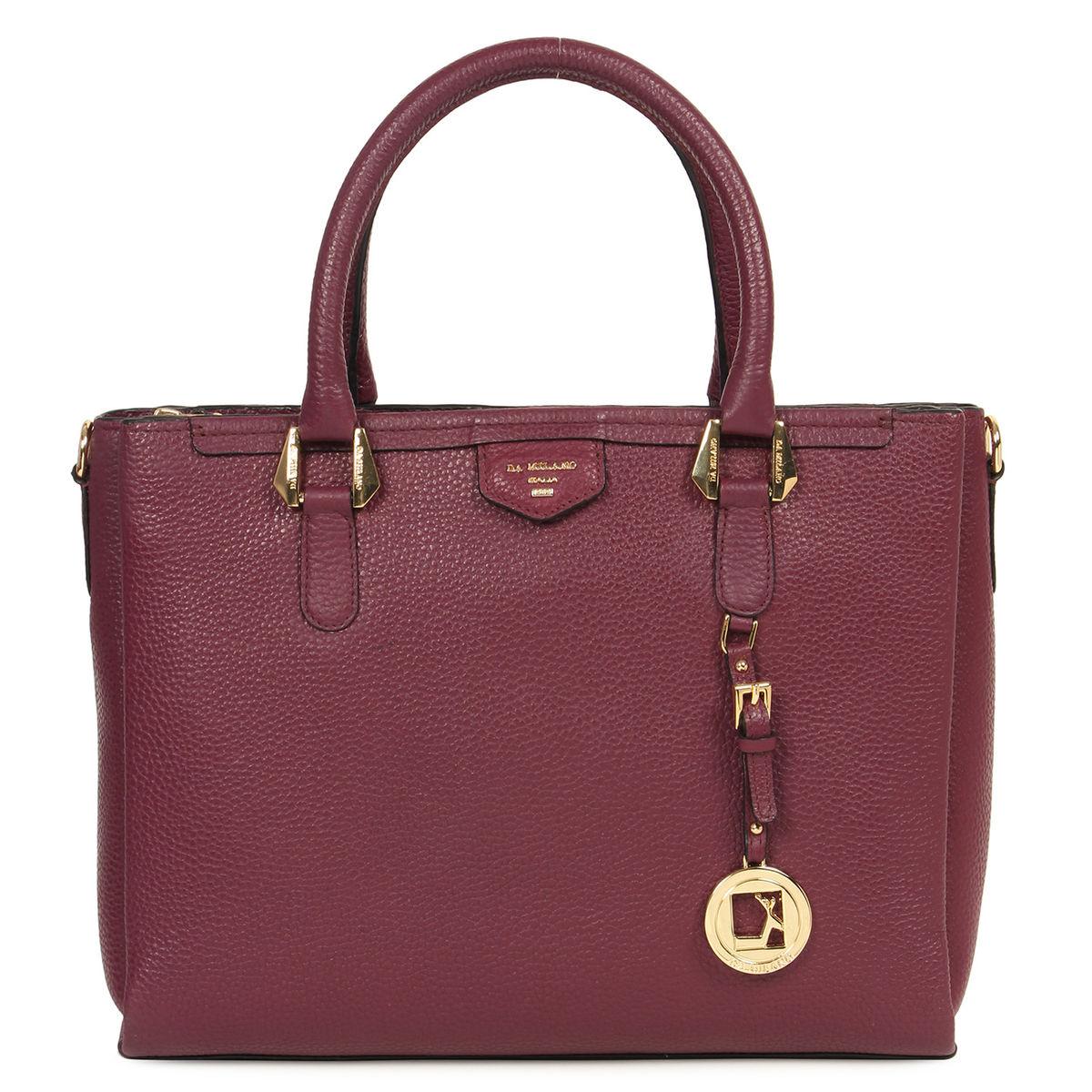 Da Milano Purple Top Handle Bag Lb 4218spurplewax