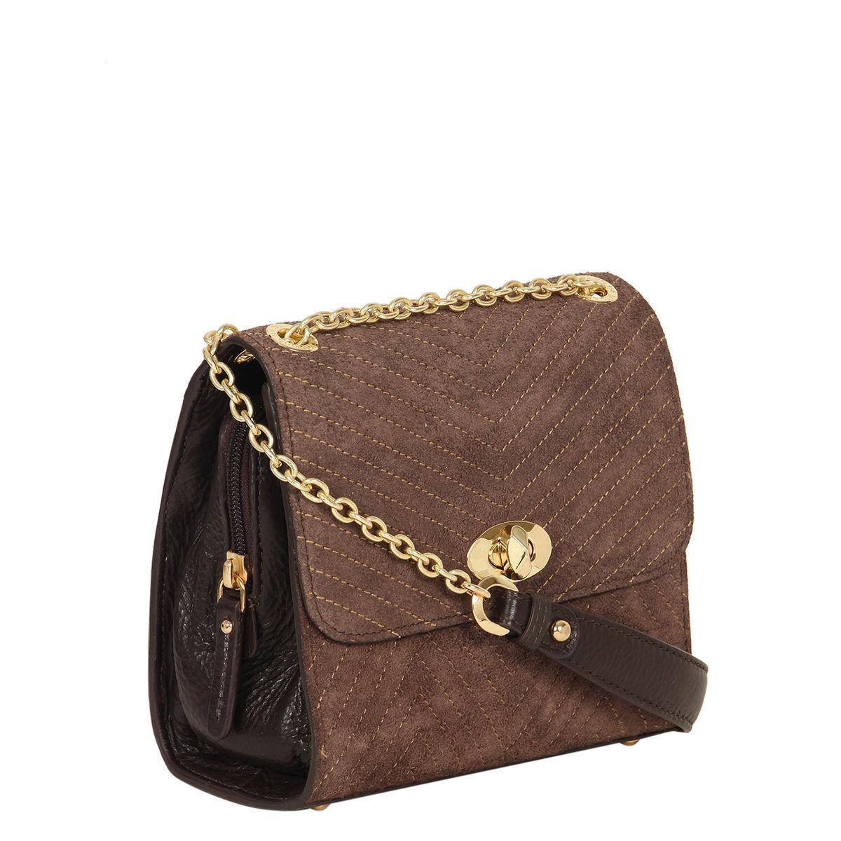 305b42201c1 Da Milano Brown Sling Bag