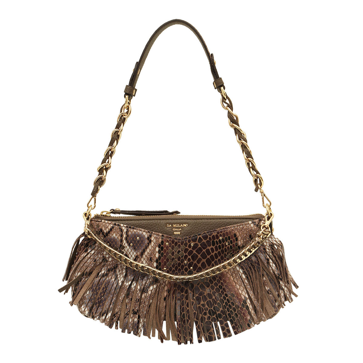 1d402daa80 ... Da Milano Brown White Long Handle Bag. sold-out-image zoom Da ...