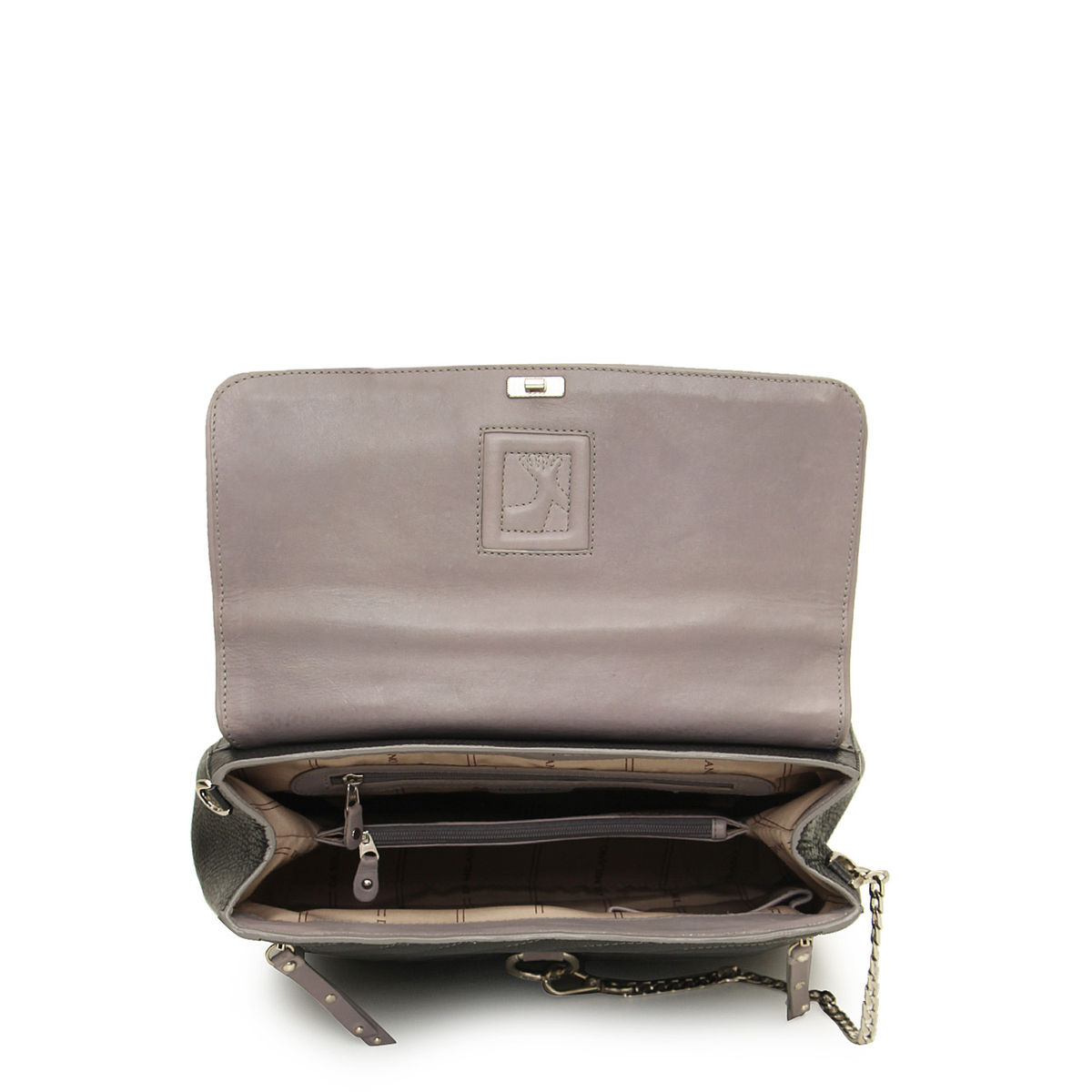 d2cf19bf2e4a zoom Da Milano Black Grey Satchel Bag. 1  2