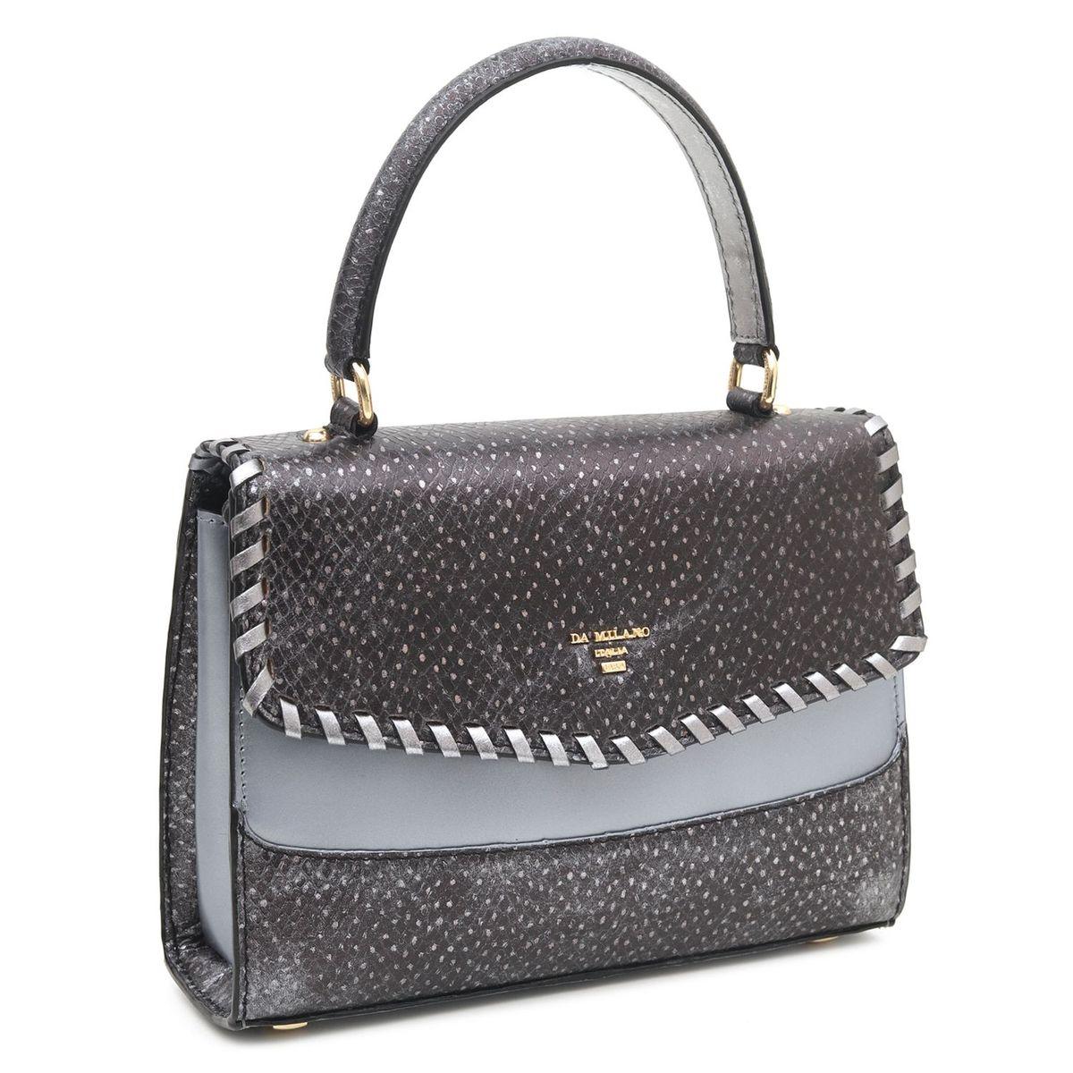 934193f31d0f Da Milano Grey Satchel Bag