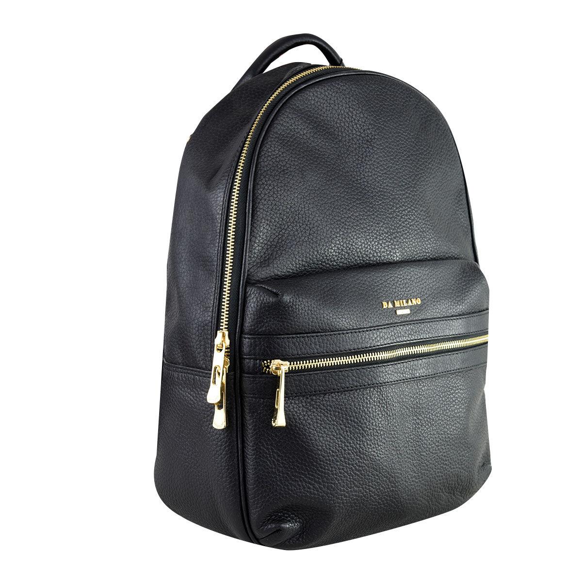 9c5508c107 Da Milano Unisex Rcb-0309 Black Wax Laptop Backpack