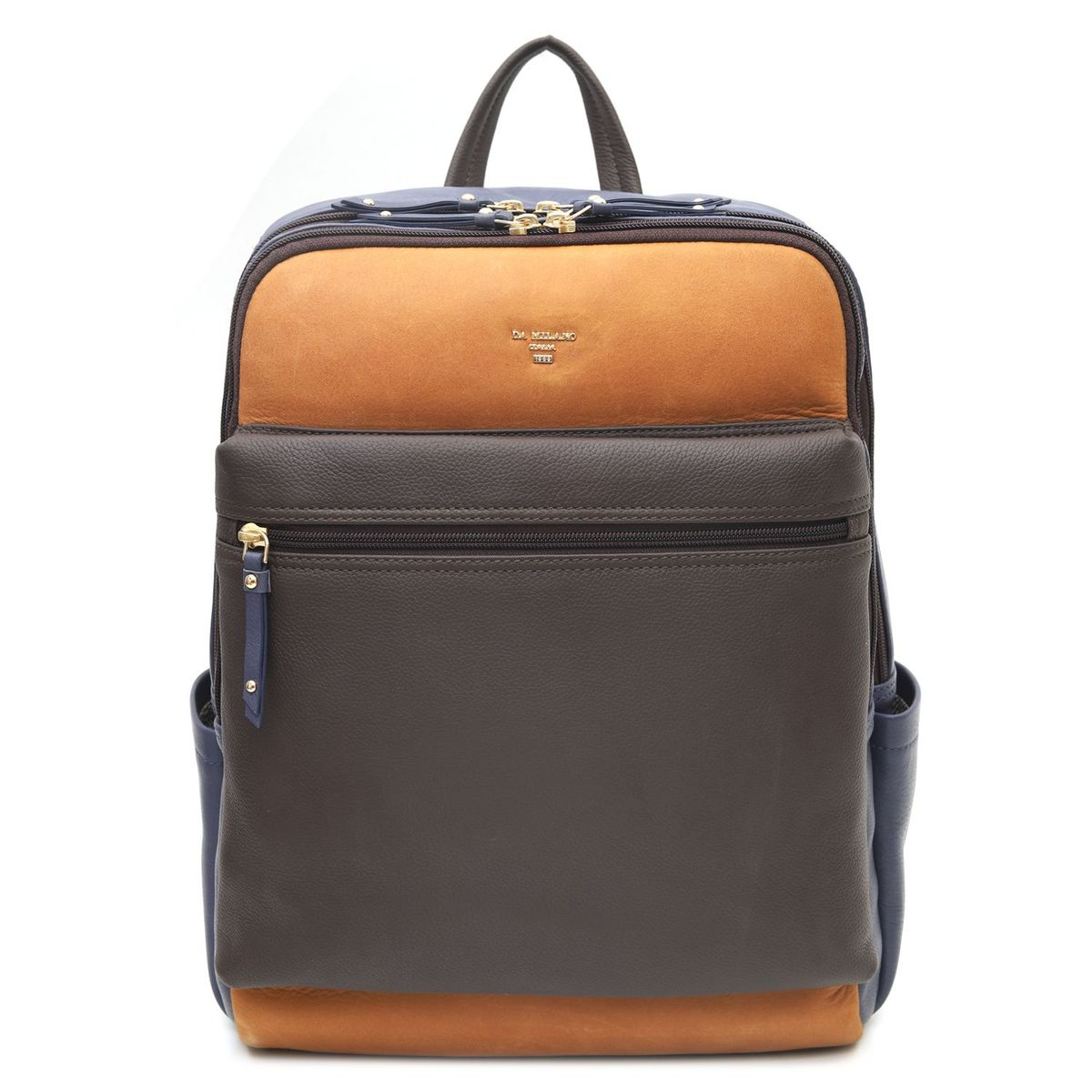 07350c5b2ebd ... Da Milano Brown   Blue Backpack · zoom ...