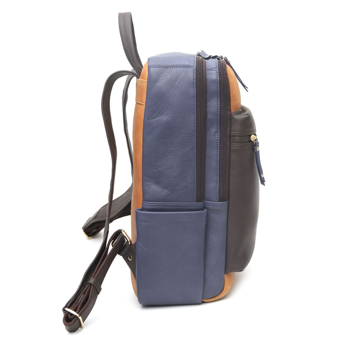 aa977033a36b zoom Da Milano Brown   Blue Backpack. 1  2