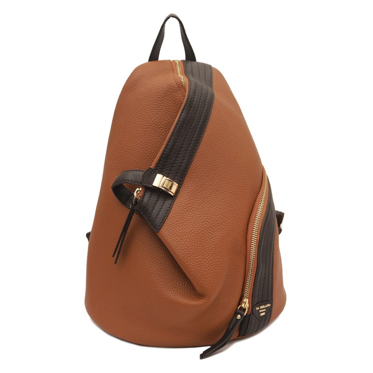 ... Da Milano Cognac Brown Backpack · zoom ... afb91ae7cb9e1