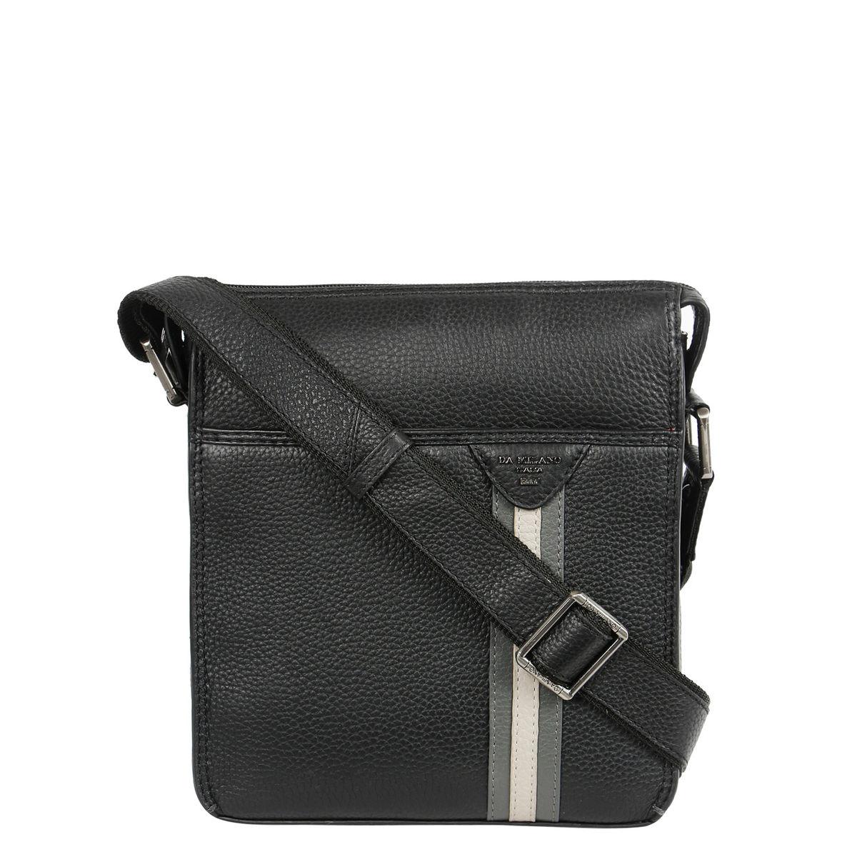 792d991bdfba Da Milano Blackgrey Sling Bag
