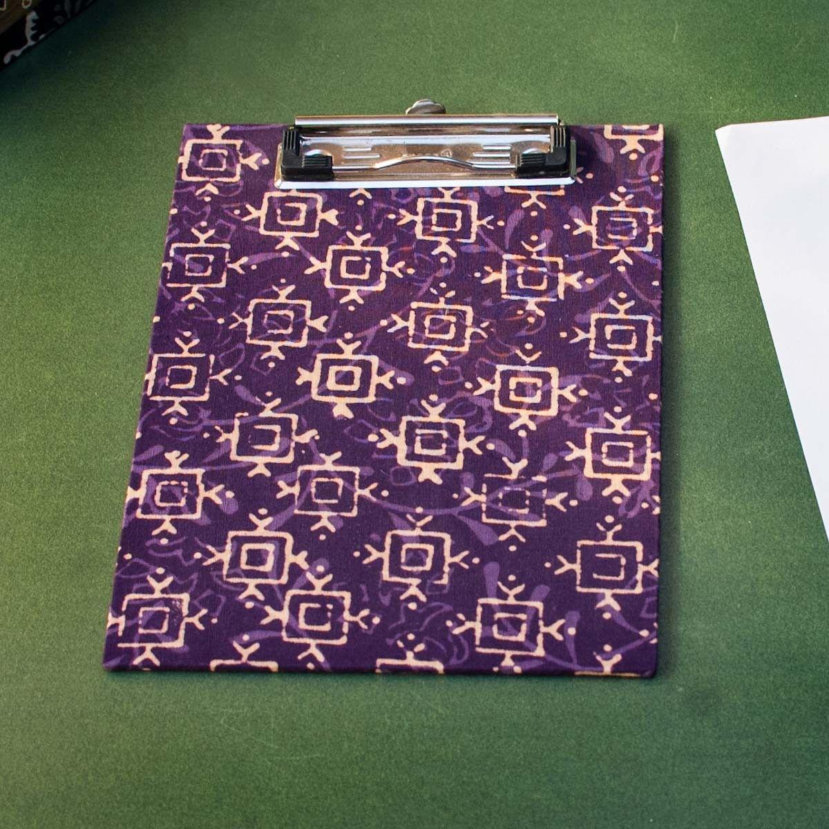Purple Printed Fabric Cover Dafti Small - 9 x 6.5 Inch