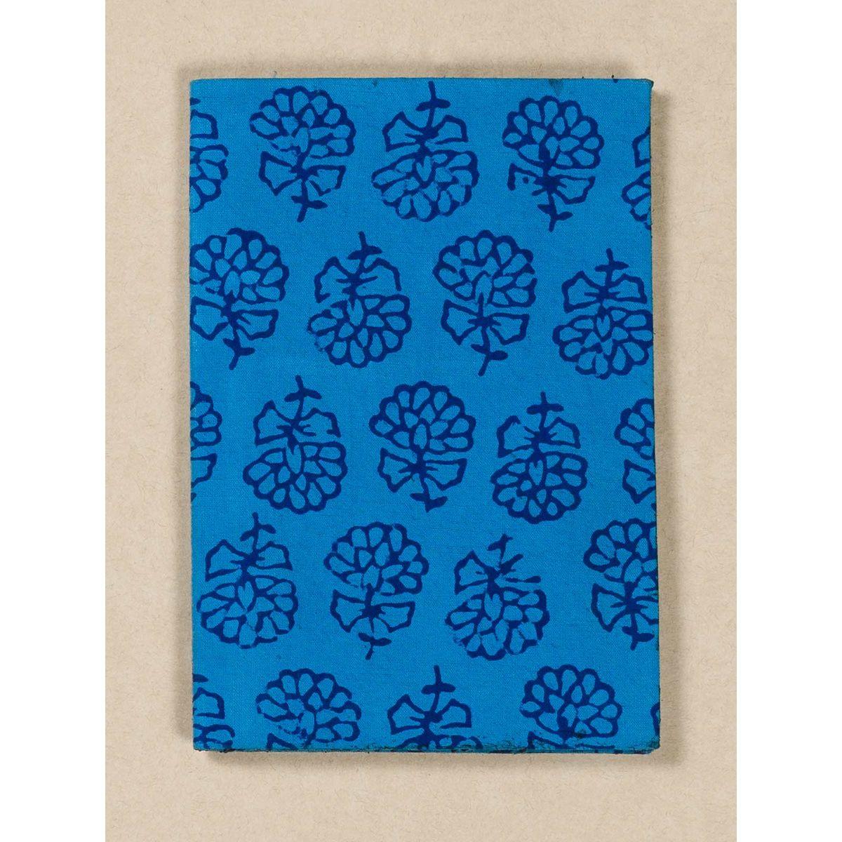 Cobalt Blue Block Print Fabric Passport Holder