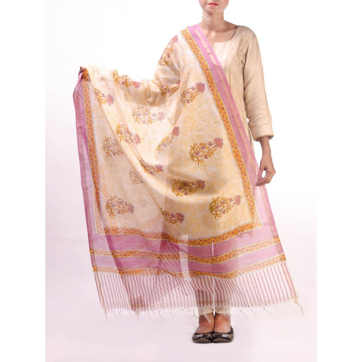 Multicolor Chanderi Duptta