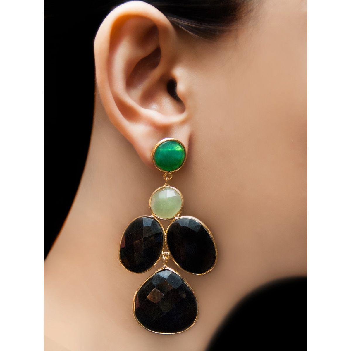 Smoke earth earrings