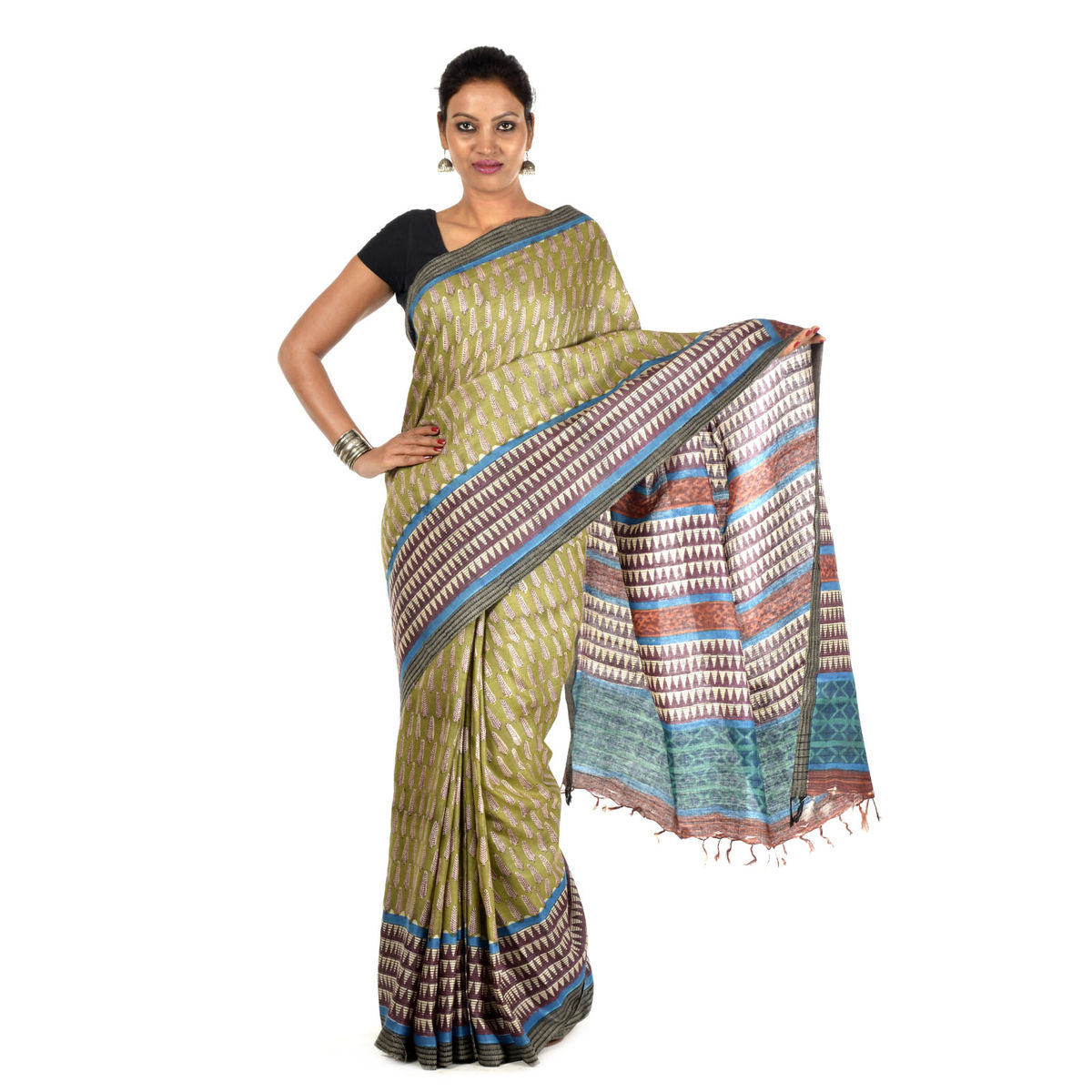 Harita Tussar Silk Saree