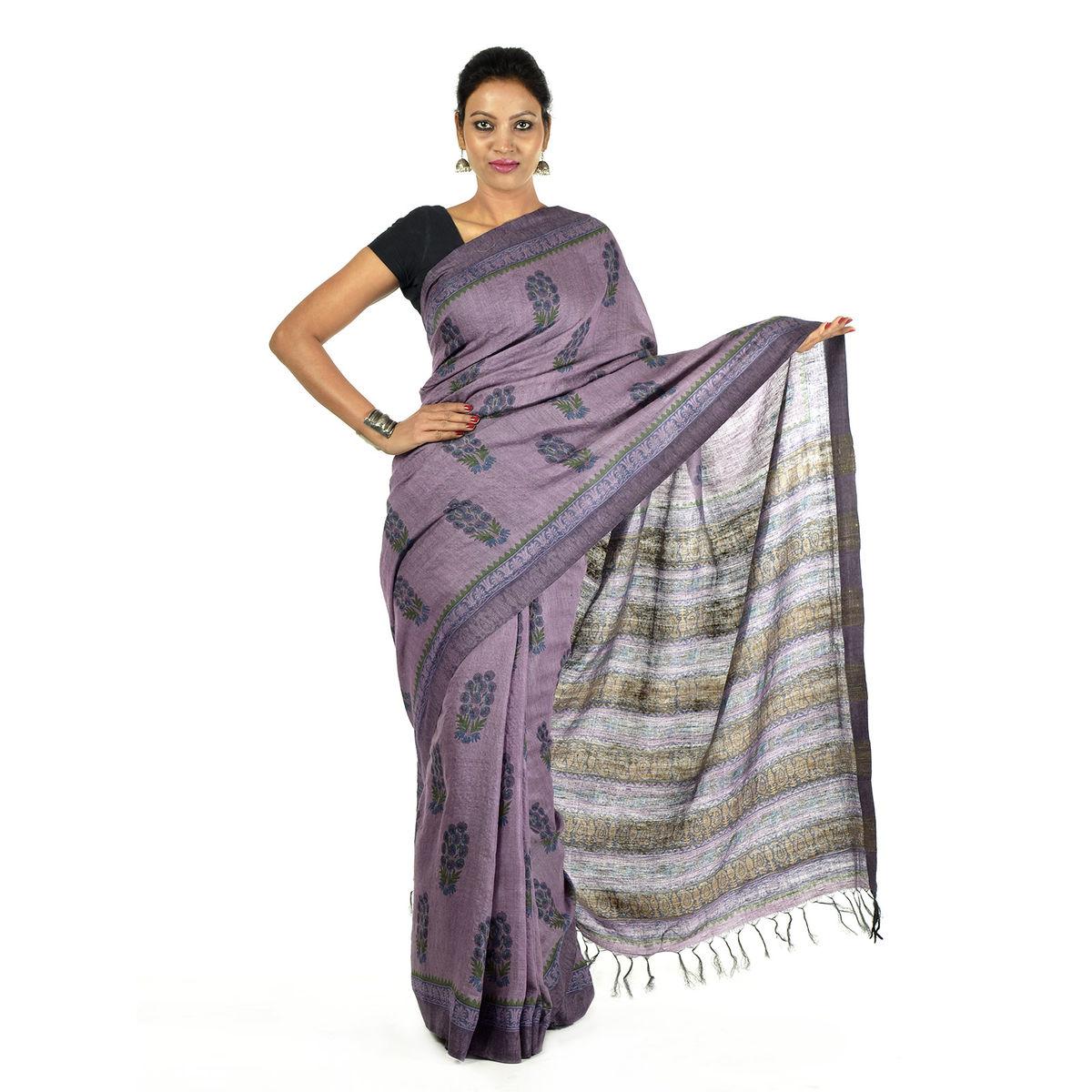 Vilud Tussar Silk Saree