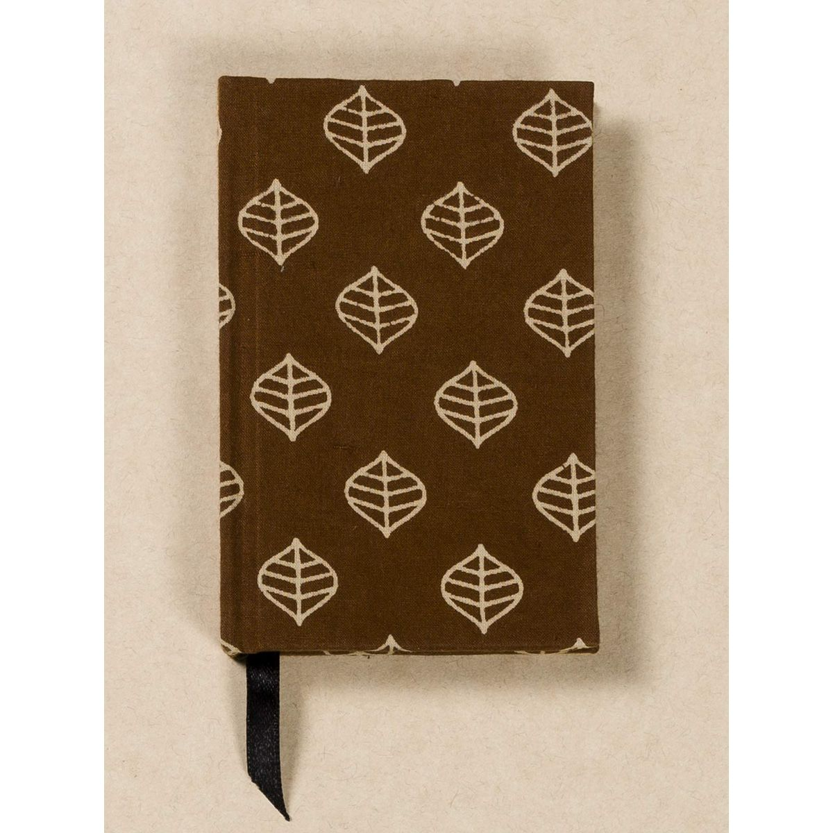 Brown Block Print Fabric Note Book