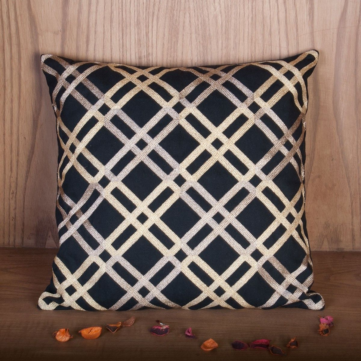 Zehreen Black Stripe Cushion