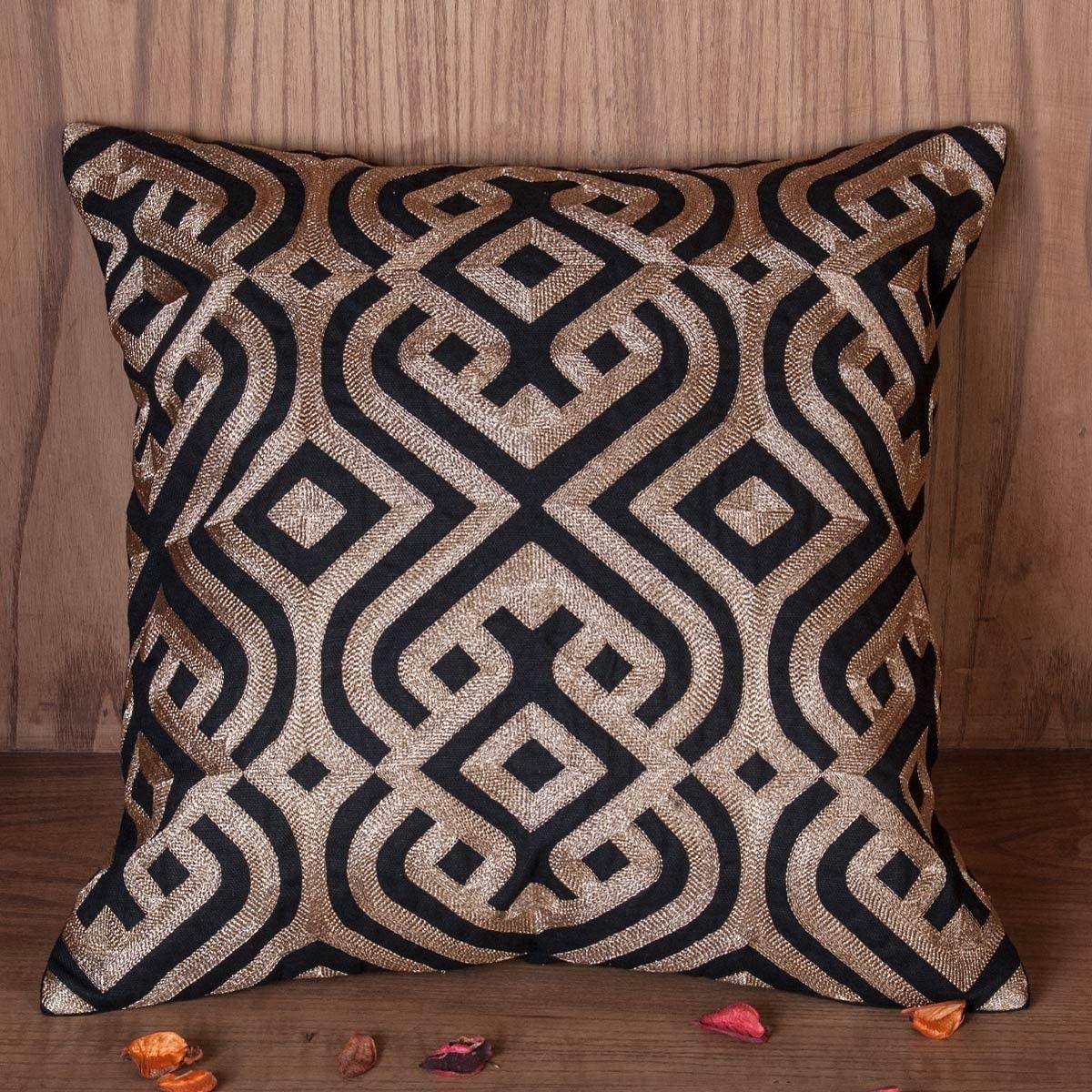 Zehreen Black Malka Cushion