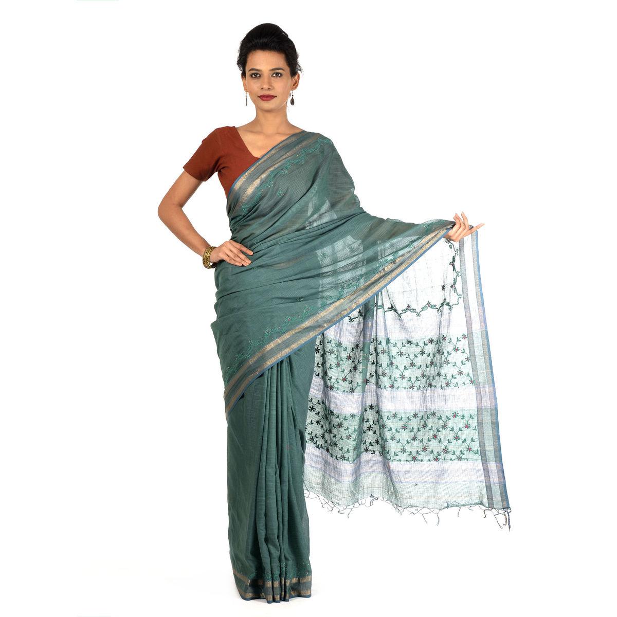Jhurane Maheshwari Cotton Saree
