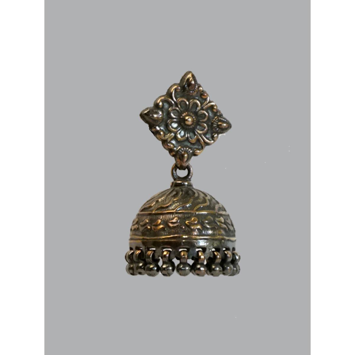 Rhomb Silver Jhumka