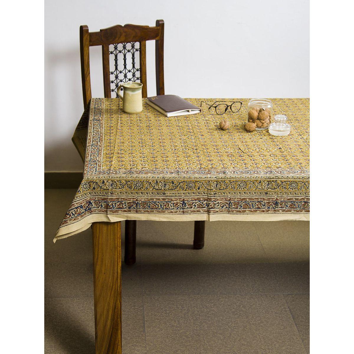 Dijon Vayati Kalamkari 6 seater table cover