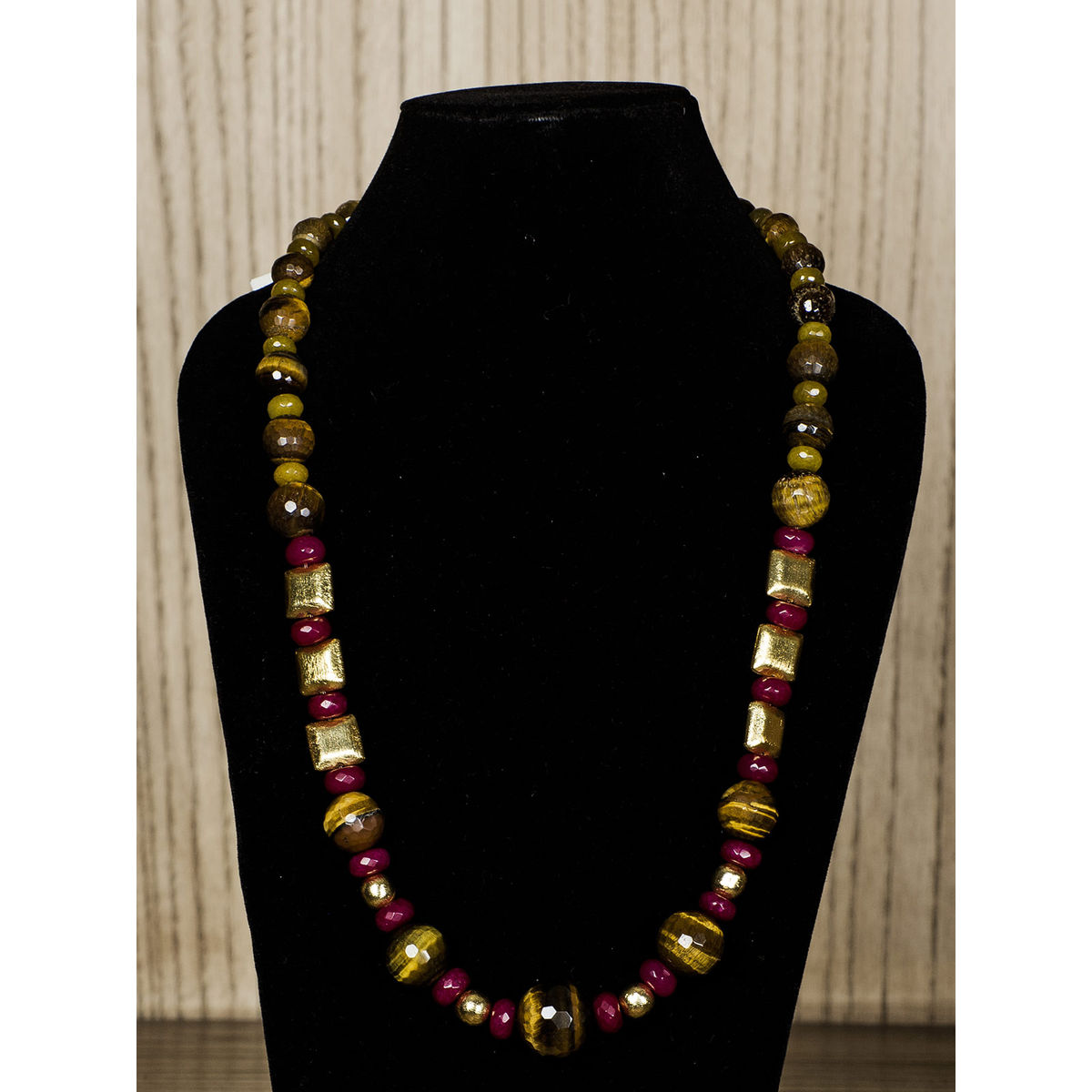 Mustard Semiprecious Stone Necklace