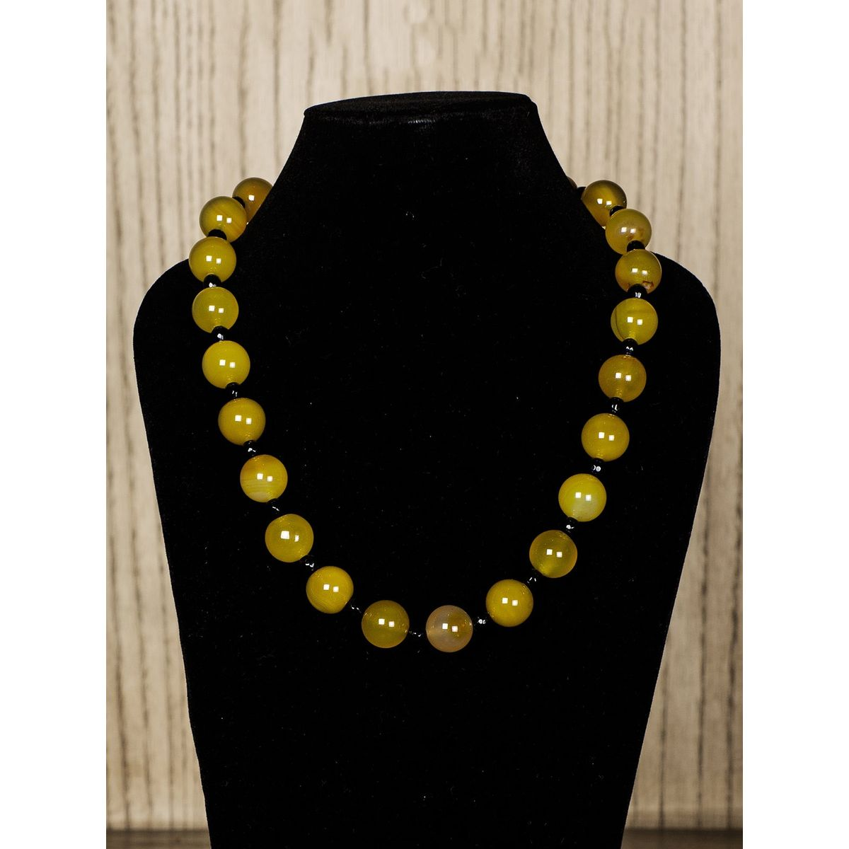 Yellow Semiprecious Stone Necklace