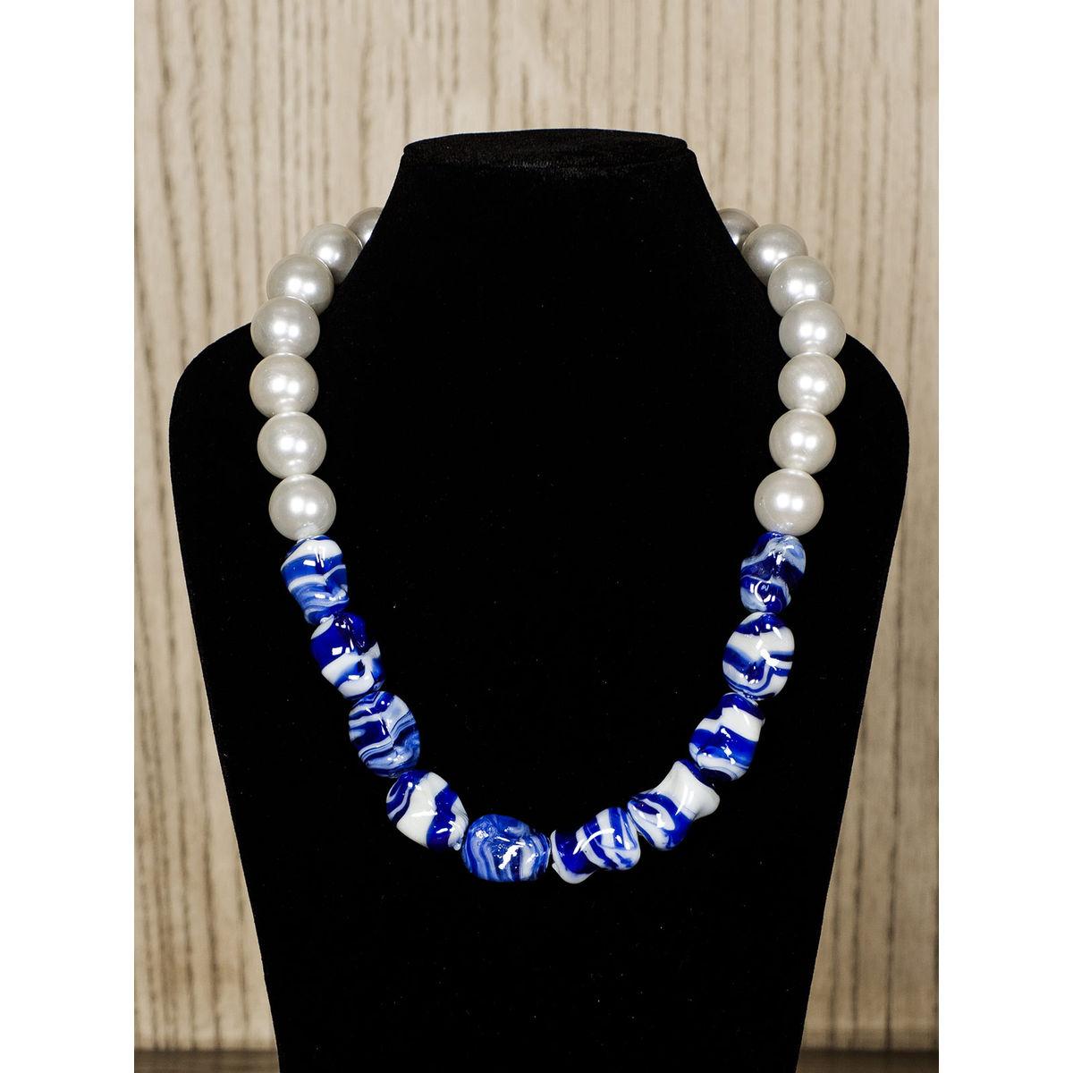 Snow Semiprecious Stone Necklace